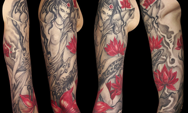 09300 lotus queen elisatattoo